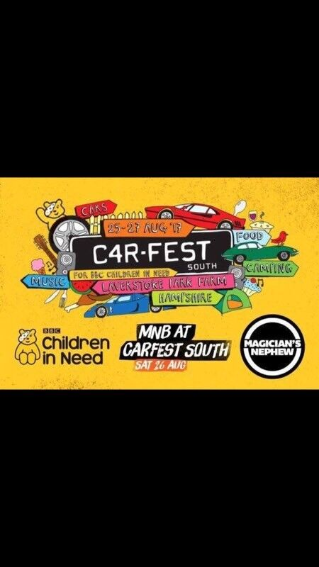 Pair of Carfest south tickets with camping (x2)