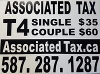 Taxes prepared by professionals EFile $35 Single, $60 Couple