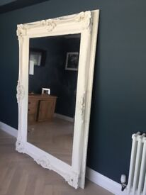 Beautiful white vintage mirror