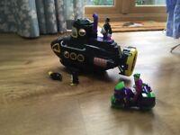 Imaginext batman submarine plus joker on a motorbike.