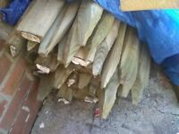 49 wooden fencing post's half-moon one's all new