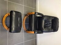 Leather Chairs, Partitions, Pictures, TV Monitor and plenty more items