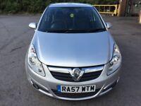 Vauxhall Corsa 1.2 i 16v Design 5dr (a/c)2008 (57 reg), Hatchback(30 days warranty)£1499