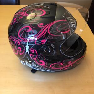 Bell Helmet Pink/Black large Full face like new