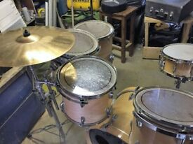 Stagemaster (pearl based) drums and Cymbals and Hardware
