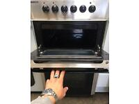 BEKO free standing electric ceramic cooker 50 cm Width Stainless Steel In Perfect Working Order