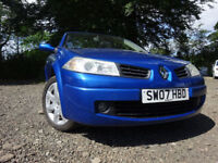 07 RENAULT MEGANE CONVERTIBLE 1.6,MOT JAN 018,PART HISTORY,3 OWNERS FROM NEW,VERY RELIABLE CAR