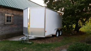 12 by 7 Stealth Full  Aluminum Tandem Cargo Trailer for Sale