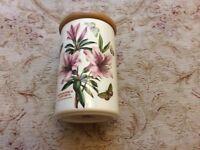 Portmeirion Botanic Garden ceramic Storage Jar. Unused. Immaculate condition.