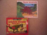 2 x NEW DINOSAUR JIGSAW/ EDUCATIONAL BOOKS - £13 FOR BOTH