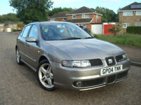 SEAT LEON CUPRA 1.9 TDI 150 BHP 6 Speed,WITH FULL SERVICE HISTORY,166.062 Miles,13 Service Stamps