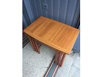 Vintage nest of 3 tables , in good condition. Must be seen. Free local delivery.