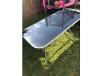 Glass garden table and 6 chairs