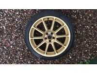 Gold alloys with 2 good tyres and 2 with gouges