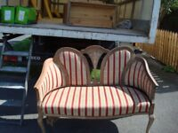 Antique upholstered seat