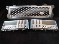 AUTOBIOGRAPHY STYLE GREY SURROUND GRILLE + VENTS For RANGE ROVER VOGUE 2010 to 2013