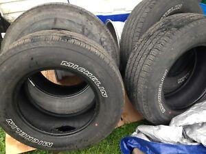 4 Michelin latitude tour all season tires. 235/70/16