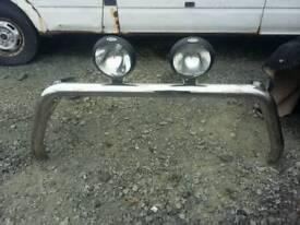 Chrome pick up rear bullbar spots.