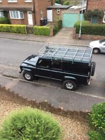 Defender 110 galvanised roof rack and ladder