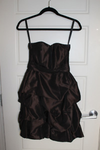 Chocolate Bridesmaid Dress - Worn Once - EUC