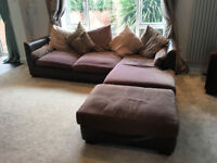furniture village sofa, chair & footstool