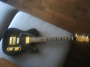 Fender Telecaster Blacktop Black & Gold Evertune Bridge