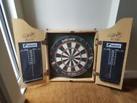 Darts board in wall cabinet £30