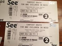 2 Carfest south Sunday adult tickets (pair)