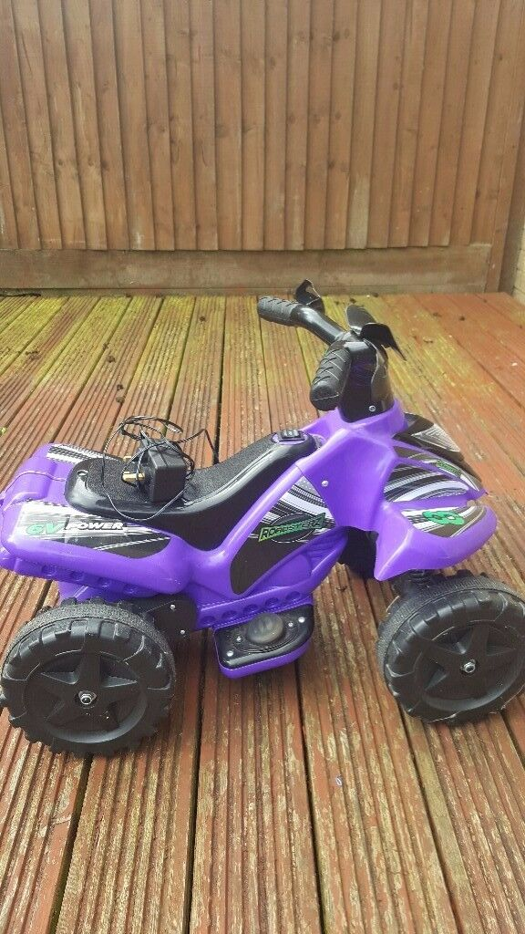 Boys Or Girls Kids 6v Rechargable Battery Electric Ride On Quad