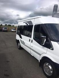 ford transit camper for sale 09 reg (kilmarnock)1 years mot 143 on the clock colour coded bumpers