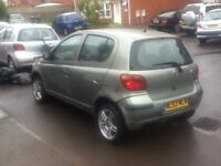 toyota yaris t3 998cc 5dr in green 1owner spares & repairs look