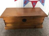 Solid pine chest.