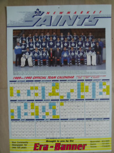 1989-90-NEWMARKET SAINTS Official Team Calendar.