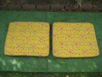 Two Colourful Garden Seat Cushions - 2 for £5.00
