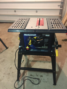 """MasterCraft 10"""" Table Saw w Stand in Perfect Condition. $160 obo"""