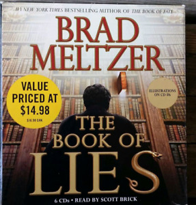 Audio Book cds Book of Lies Brad Meltzer used only once