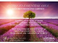 Live class in Winchester: Intro to essential oils - Nature's medicine cabinet