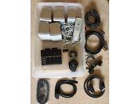 TV Equipment: 5 x Surround Sound Speakers & Panasonic Remote