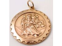 Gold St. Christopher Necklace Pendant Wanted