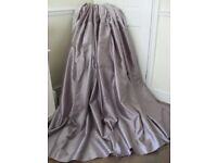 Beautiful faux silk & crushed velvet heather curtains 66 x 72 inches