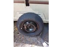 Vw golf mk4 spare wheel with brand new tyre 195 65 15