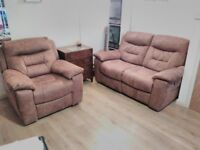 2 Seater Recliner Sofa and Matching Armchair