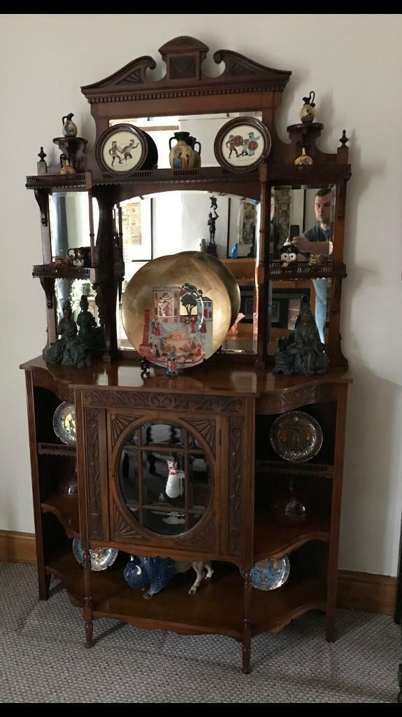 Antique Carved Victorian Display Cabinet Chiffonier Sideboard in Salford, Manchester Gumtree