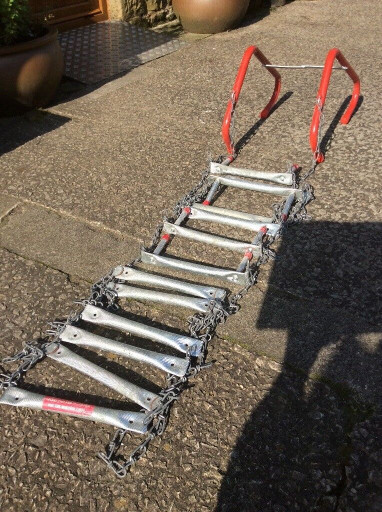 Emergency chain fire escape ladder. Or Tree ladder.