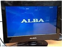 "alba 16"" freeview tv and a lowry dvd player"