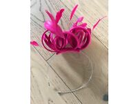 Pink fascinator from John Lewis