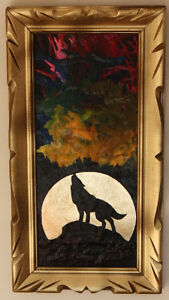 Original painting - NOT PRINT- in a solid wooden curved frame