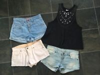 Ladies size 8 and 10 summer clothing shorts