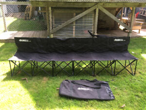 6 seat Kwik Goal bench with carry case