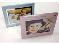 Baby Photo Frames - Princess Pink & Baby Blue